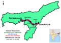 Nagaland Express (Guwahati - Dimapur) BG Express route map.png
