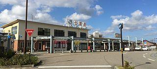 Nanao Station Railway station in Nanao, Ishikawa Prefecture, Japan