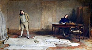 Emmanuel, comte de Las Cases - Napoleon dictating to Count Las Cases the account of his campaigns