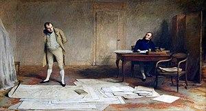 Emmanuel, comte de Las Cases - Napoleon dictating to Count Las Cases the account of his campaigns