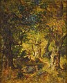 Narcisse Virgile Diaz de la Peña - Interior of a Wood with Lake and Figures - KMS1805 - Statens Museum for Kunst.jpg