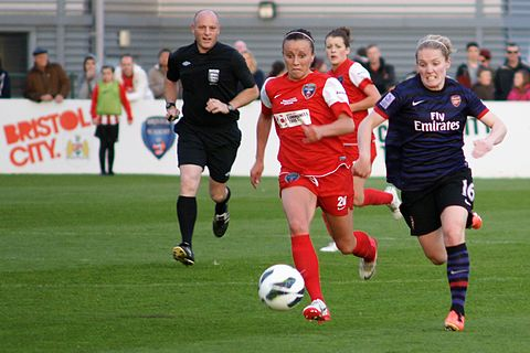 Little (right) versus Bristol Academy, May 2013 Natasha Harding.jpg