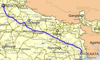 National Highway 19 (India) - Image: National Highway 2 (India)