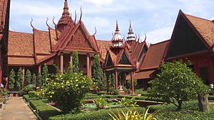 National Museum of Cambodia - Museum courtyard