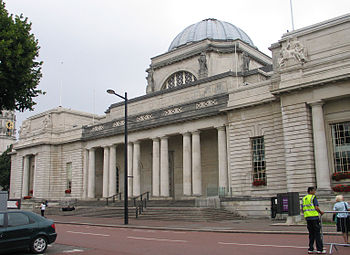 National museum Cardiff, front side