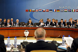 English: The first meeting for NATO Defense mi...