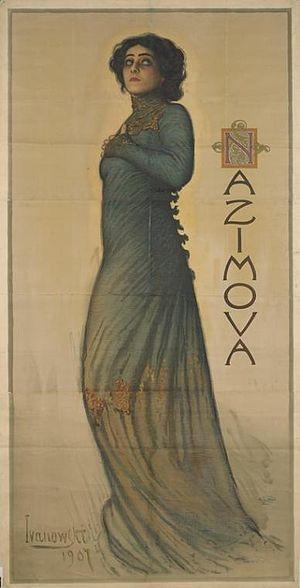 Hedda Gabler - Poster of Alla Nazimova as Hedda Gabler, 1907