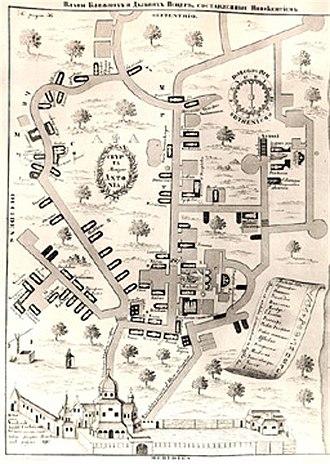 Near Caves - Image: Near Caves (Pechersk Lavra) Plan (1638)