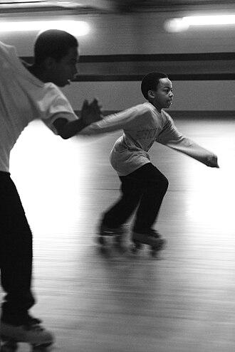 Roller skating - People roller skating