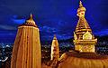 Nepal Kathmandu Swayambhunath Night Swayambhunath 2 (full res).jpg