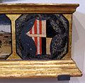 Neri di bicci, santa felicita e i suoi figli, 1464, stemma nerli-tornaquinci sulla predella.JPG
