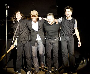 English: Contemporary Christian band Newsboys ...