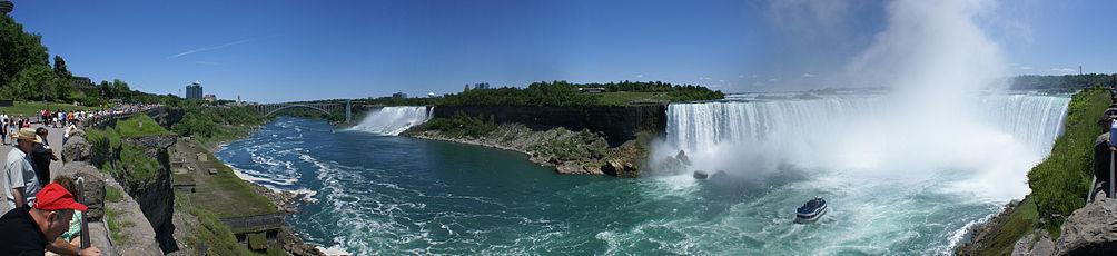 View of Niagara Falls (stitched image)