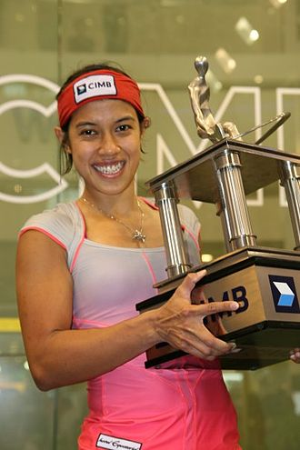 Squash (sport) - Nicol David; currently ranked the number three female squash player in the world.