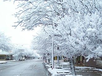 La Carlota, Argentina - Image: Nieve La Carlota