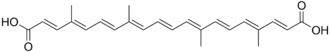 Bixin - Chemical structure of norbixin