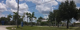 North Port, Florida - Entrance to North Port High School, home of the Bobcats