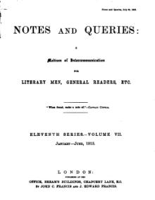 Notes and Queries - Series 11 - Volume 7.djvu