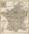 Nouvelle carte de la France indiquant les routes de poste, les routes impériales et départementales avec les distances en kilomètres, les chemins de fer et les canaux - Fonds Ancely - B315556101 A LEVASSEUR 102.jpg