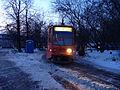Novogireevo tram terminal, KTM-8 tram on route 37 (Трамвайная станция Новогиреево, трамвай КТМ-8 на маршруте 37) (5425101991).jpg