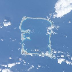 Nukufetau atoll from space