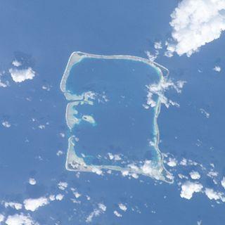 Nukufetau Atoll in Tuvalu