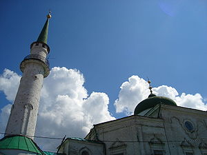Akhmad kadyrov mosque wikivisually nurulla mosque nurulla mosques minaret and cupola thecheapjerseys Images
