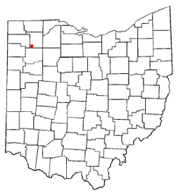 Location of New Bavaria, Ohio