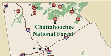 Chattahoochee National Forest Map Trails of the Chattahoochee National Forest   Wikipedia Chattahoochee National Forest Map