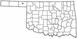 Location of Knowles, Oklahoma