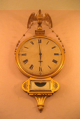 Simon Willard clocks - Old South Meeting House's Willard gallery clock, now at Old South Church.