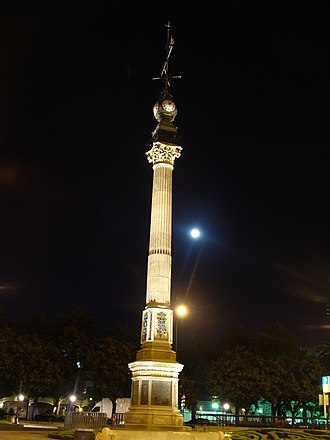 A Coruña - The Obelisk, dedicated to Don Aureliano Linares Rivas in 1895