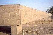 Tip of Hatshepsut's fallen obelisk, Karnak
