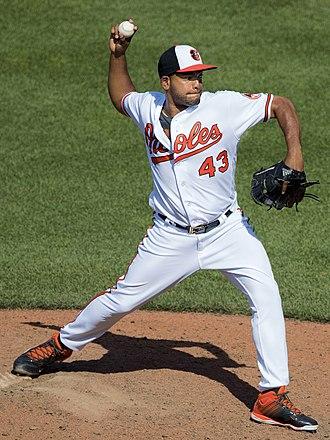 Odrisamer Despaigne - Despaigne pitching for the Baltimore Orioles in 2016