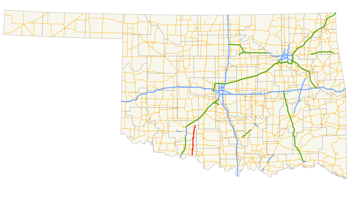 Oklahoma State Highway Wikipedia - Oklahoma highways map