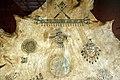 Oklahoma, chiricahua apache, attr. a capo naiche, dipinto su pelle di bufalo con cerimonia della pubertà femminile, 1900-10 ca. 03.jpg