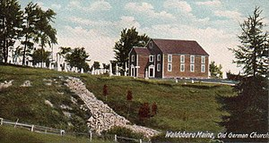 Waldoboro, Maine - Old German Lutheran Church, built 1792, as it appeared c. 1905