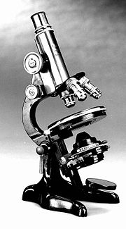 Old light microscope