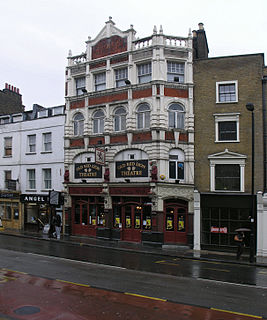 The Old Red Lion, Islington pub with pub theatre in Islington, London, England