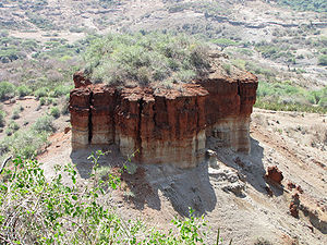 Olduvai Gorge - Close-up of monolith