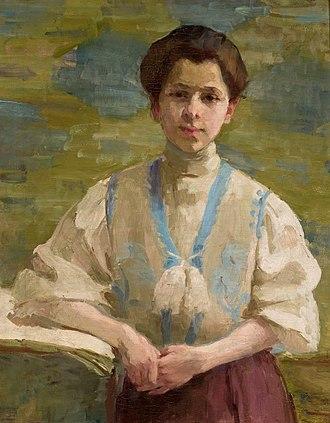 Olga Boznańska - Self-portrait, 1893