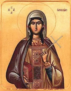 Deaconess - Icon of Saint Olympias the Deaconess