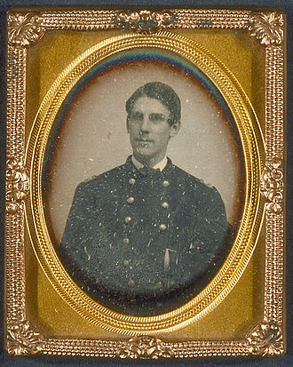 Company C 1-181 Infantry - Daguerreotype showing Lieutenant Oliver Wendell Holmes in his uniform, 1861