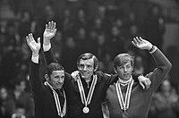 Olympische Spelen Grenoble, ceremonie afdaling, in midden Killy (Frankrijk), Bestanddeelnr 921-0677.jpg