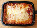 Omaha Steaks beef lasagna, January 2010.jpg