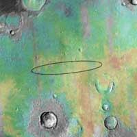 Opportunity rover's landing site