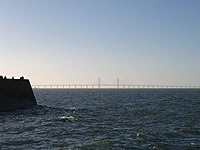 Oresund Bridge from Malmo.JPG