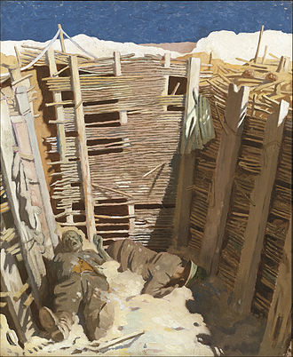 William Orpen - Dead Germans in a Trench (1918) (Art.IWM ART 2955)