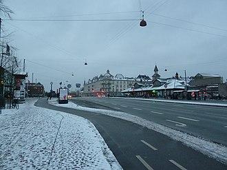 Oslo Plads - Oslo Plads in winter.