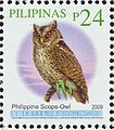 Otus megalotis 2009 stamp of the Philippines.jpg